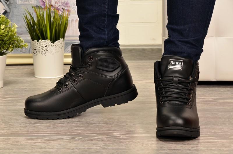 Baas DB2042-1K Ботинки чер кожа, подклад комби мех (нат+иск)