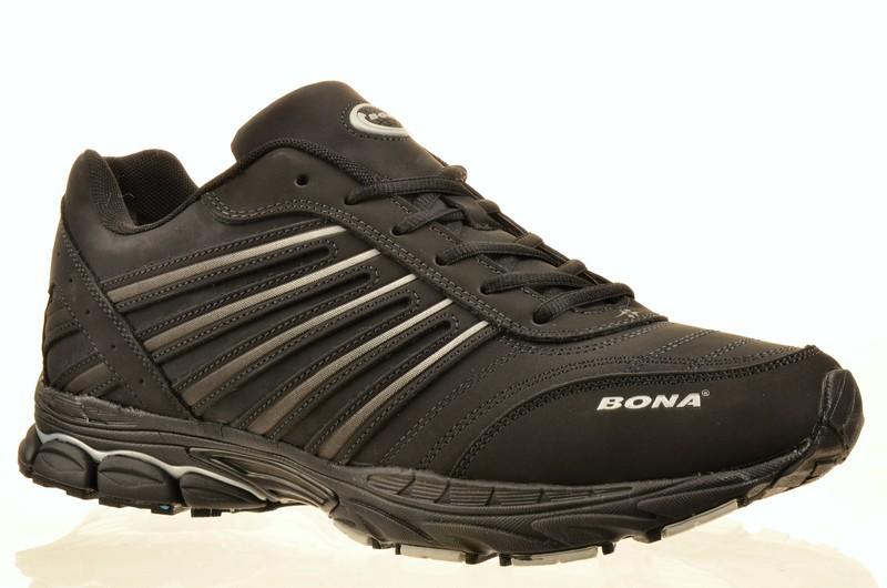 Bona XD32603D-1-8K Кроссовки чер нубук, подклад иск мех