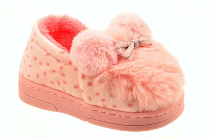 Shidiqi 804-1 Туфли домашние детские роз велюр+иск мех