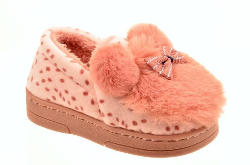 Shidigi 804-4 Туфли домашние детские роз велюр+иск мех