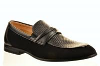 Fashion + TC 03420120 Туфли мужские чер иск нубук+иск кожа, стелька нат кожа - Совместные покупки